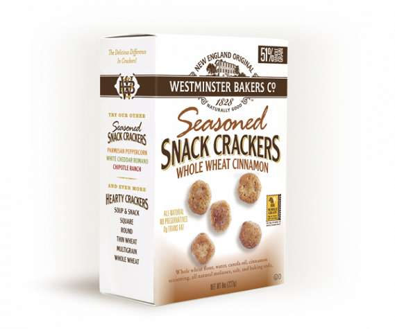 Whole Wheat Cinnamon Seasoned Snack Crackers